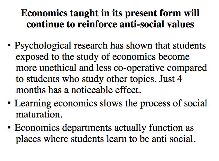 Are economics delayed pleasure much