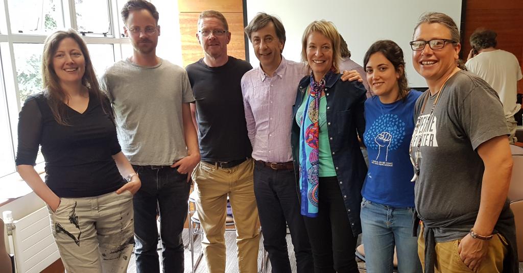 From left to right: Roisin O'Gorman, Patrick Bresnihan, Mark Garavan, Marco Iob, Orla O'Donovan, Myriam Planas, and Chas Jewett